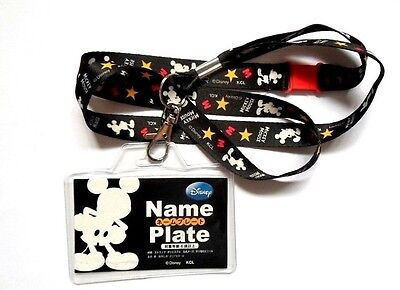 Disney Mickey Mouse Snap Quick Release Lanyard Neck Strap / ID Holder