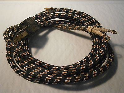 Vintage Electrical Cord NOS Braided Cloth Appliance 2 Prong UL Listed 7 Ft Long
