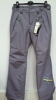 •Adult O Neill Skiing Snowboarding Trousers Grey Size S Rrp 130£ 10k