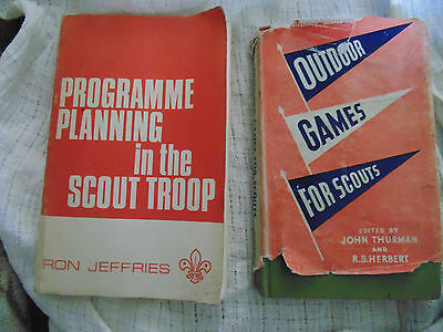 Two vintage Scout books