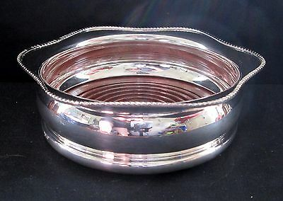 Arthur Price of England/Harrod's Wine Champagne Bottle Coaster Silver Plate Wood