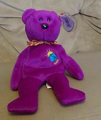 TY Beanie Baby - Retired - Millenium the Bear - Rare Variation - with both tags