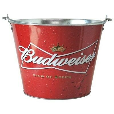 Branded Budweiser Ice Bucket ¦ Red Grab Some Buds Design