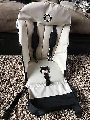Bugaboo Off White Black Limited Edition Seat Fabric Board & Foam Cameleon 1 & 2