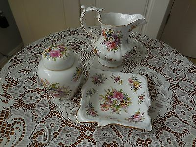 Hammersley china Jug Dish & lidded container