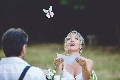 Surprising Greeting Trick Card that transform into a FLYING Prop TOY BUTTERFLY