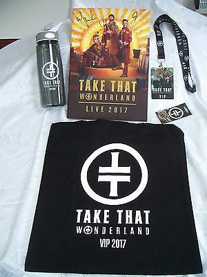 Take That 2017 Wonderland Tour VIP Package Merchandise Signed Programme Tote Bag