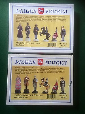 Prince August American Civil War Chess Set Metal Casting Moulds Both Sets