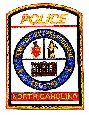 RUTHERFORDTON NORTH CAROLINA NC Police Sheriff Patch SHIELD BLIND LADY JUSTICE ~