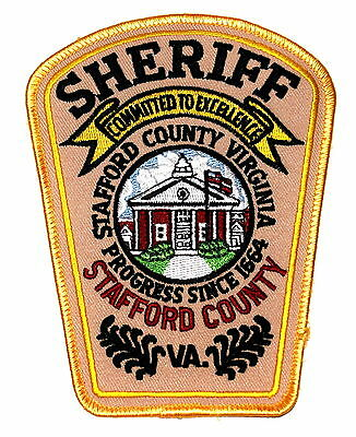 STAFFORD COUNTY VIRGINIA VA Police Sheriff Patch COUNTY COURTHOUSE US FLAG LARGE