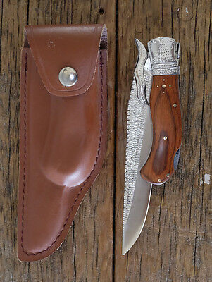 "Bowie Linerlock Hunting Buck Custom Blade by RenWA  AMAZING KNIFE ""LAST ONE"""