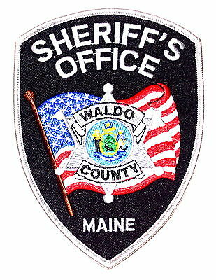 WALDO COUNTY MAINE ME Police Sheriff Patch STATE SEAL ANCHOR US FLAG LARGE ~