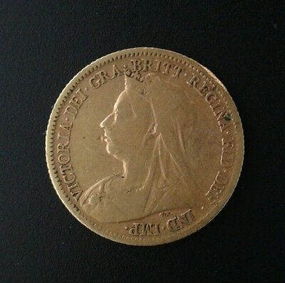 1899 Queen Victoria Half Gold Sovereign Reasonable Condition