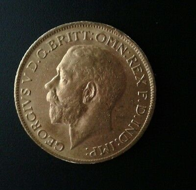 1913  George V Full Gold Sovereign Great Condition