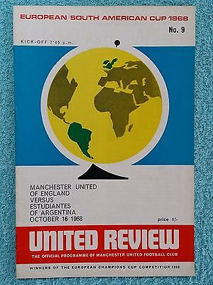 1968 - CLUB WORLD CUP FINAL 2ND LEG PROGRAMME - MANCHESTER UTD v ESTUDIANTES