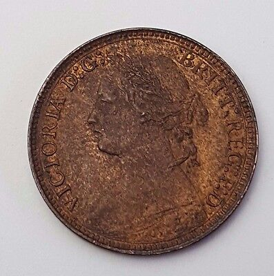 Dated : 1875 - Copper - One Farthing - Coin - Queen Victoria - Great Britain