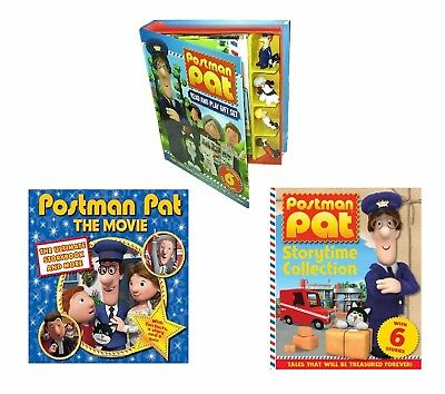 Postman Pat Read & Play Gift Set & The Movie Storybook & Story time Collection