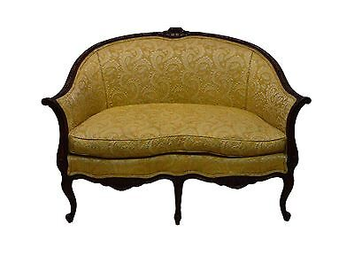 French Style Carved Walnut Settee Loveseat