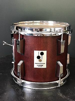 "Rare: 10"" Sonor Performer Vintage Mahogany Tom Excellent Condition - like Phonic"
