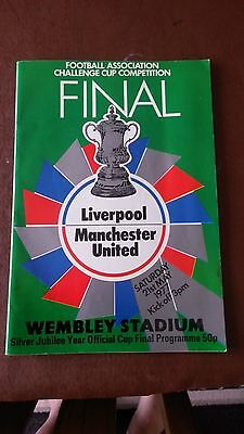 Challenge Cup Final Liverpool V Manchester United Football Programme 1977