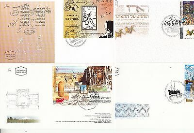 Israel 1997 First Day Covers including mini sheets - x 19 different