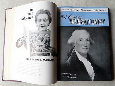 The American FEDERATIONIST Labor Magazines~Jan to Dec 1953 issues HC