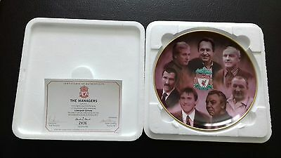 Liverpool fc - Danbury Mint Plate - The Managers