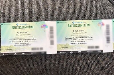 2 X Green Day Tickets Hyde Park