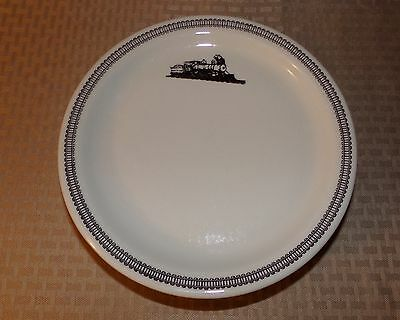 """Sterling China Wellsville, OH Restaurant Railroad Dinner Plates set of 5- 9.75"""""""