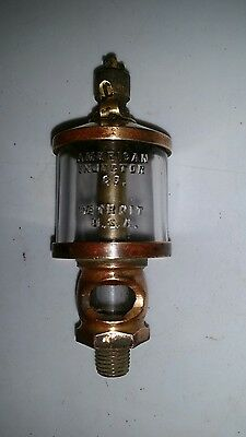Vintage American Injector Brass Drip Oiler Hit Miss Stationary Engine Cylinder