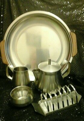 Vintage /Retro Stainless Steel Teapot set