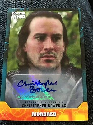 Topps Dr Who Signature Series Christopher Bowen As Mordred Autograph Card