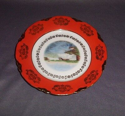 "Vintage 7"" China Souvenir Plate Of Niagara Falls, Made In Bavaria"