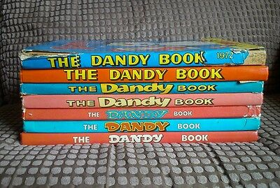 Dandy Annual Collection X7 Books 1972-1982 (BV44)