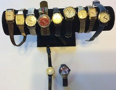 Rare lot of 11 women Timex watches,mostly quarts,as-is for parts or repair  T252