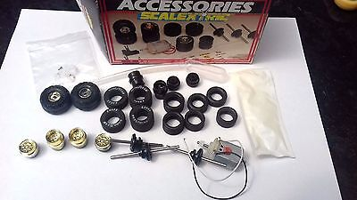 Scalextric C279 race tuned accessory box unused parts tyres wheels engine etc