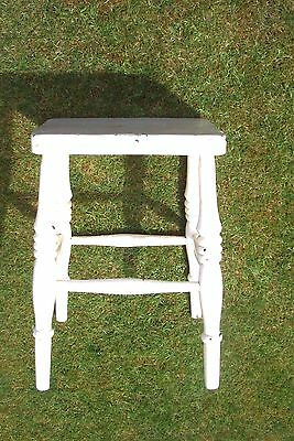 Small vintage wooden painted stool