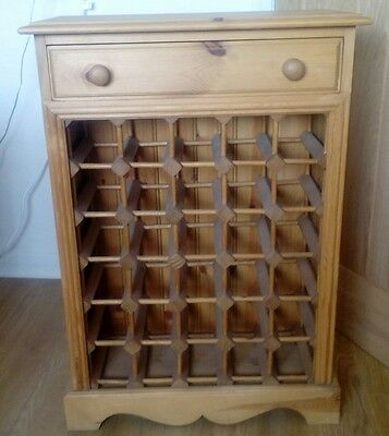 solid pine wine rack with drawer (Padgetts)