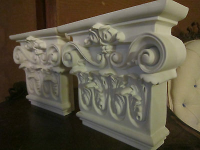 Pair Architectural element decorative molding Grand Tuscan Classical Corbel