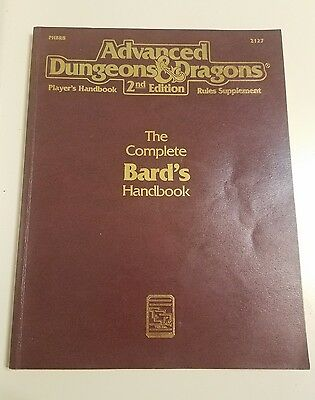 Advanced Dungeons & Dragons 2Nd Edition Complete Bard's Handbook 1992 2127