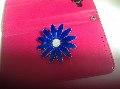 Norwegian Silver And Blue Enamel Broach Wm 925S