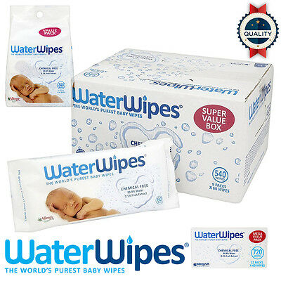 WaterWipes Chemical Free Baby Wipes Sensitive 240/540/720 pcs *No Allergy/rash*