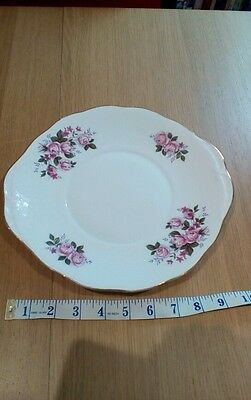 Queen Anne Vintage Cake Plate - pink roses