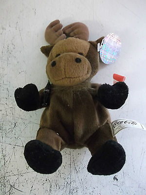 coca cola bean bag soft toy called gourmand the moose from canada.