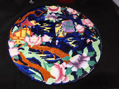 WOW MALING PLATE in HAND PAINTED  CHINESE LANTERN DESIGN  EXCELLENT CONDITION