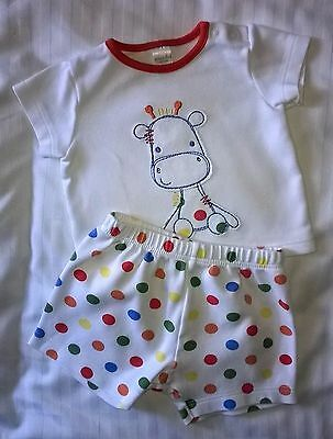 Baby Boys Clothes Giraffe & Polka Dots Outfit Mini Club 0-3 months