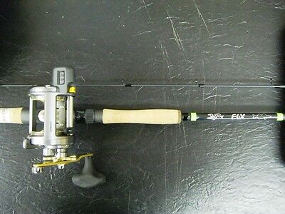 G Loomis E6X 8'0 Medium Heavy 2Pc Trolling Rod 963-2Cwtr W/ Tekota 500Lc