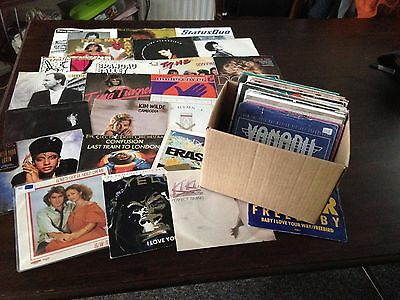 "Job Lot of 50 x 7"" Vinyl Single Records All  Picture Sleeves REF 2"