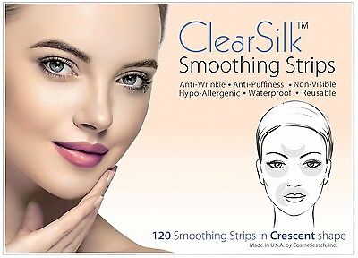 ClearSilk Smoothing Strips (Crescent 120 Ct) Facial Wrinkle Repair & Prevention