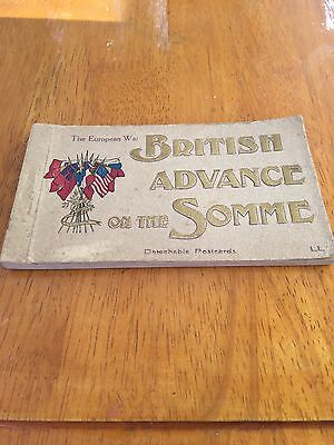 British Advance On The Somme Detachable Postcards